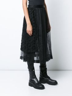 Comme Des Garçons Noir Kei Ninomiya pleated lace skirt