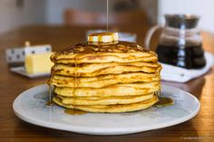 Recipe: Kaitlin's Buttermilk Pancakes – The Fluffiest and Tastiest You'll Ever Eat Buttermilk Pancakes Easy, Make Your Own Buttermilk, American Breakfast, Waffle Recipes, Good Food, Easy Meals, Tasty, Food Plan, Baking
