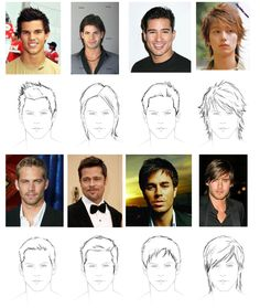 How to draw hair: male | ShareNoesis, and since I can't draw, this helps!