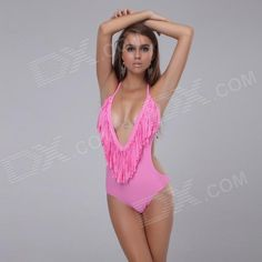 Color: Pink; Brand: N/A; Model: T91; Quantity: 1 Set; Material: Nylon + lycra + spandex; Size: M; Gender: Women's; Type: Swimsuits; Packing List: 1 x Swimwear; http://j.mp/1sWO3eE