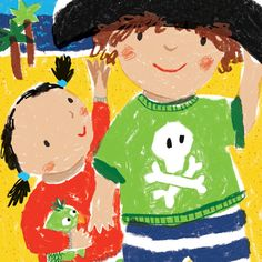 I Wish I Had a Pirate's Hat - Lorna Scobie Illustration Pirate Hats, I Wish I Had, Poetry Books, Childrens Books, Pirates, Illustration, Happy, Artist, Cute