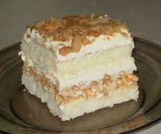 biały lion Polish Desserts, Polish Recipes, Cookie Desserts, Cake Recipes, Dessert Recipes, Delicious Desserts, Yummy Food, Kolaci I Torte, Vegan Sweets