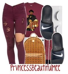 """"" by prvncessbeautifulmee ❤ liked on Polyvore featuring philosophy, MCM and NIKE"