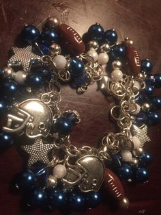 Bling Dallas Cowboys   Swarovsksi Crystal Charm Bracelet Sport Team Jewelry  | Cowboys