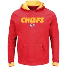 Kansas City Chiefs Majestic Big & Tall Championship Pullover Hoodie - Red - $59.99