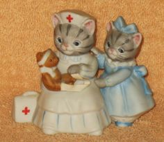 KITTY CUCUMBER RARE DRESSED IN BLUE WITH NURSE MNB