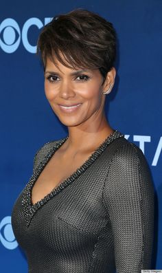 Halle Berry hair cut, just need to grow my bangs.