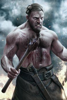 ArtStation - Germanic warrior, Joan Francesc Oliveras Pallerols