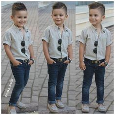 ... Toddler Boy Fashion, Little Boy Fashion, Toddler Boys, Kids Boys, Boys Summer Outfits, Cute Outfits For Kids, Baby Boy Outfits, Kid Boy Haircuts, Boy Hairstyles