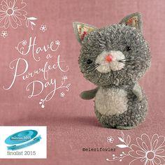 "Cat – ""Tiddly pom pom"" by Eleri Fowler for Paper Rose greeting card Cat Crafts, Animal Crafts, Diy And Crafts, Crafts For Kids, Diy Pompon, Pom Pom Animals, Diy Broderie, Pom Pon, Wool Dolls"