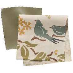 love fabric with birds