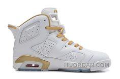 "ca81657c8d3a1c Air Jordans 6 Retro ""Gold Medal"" White Gym Red-Metallic Gold-Sail For Sale  EP4nE"