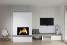 25102016 DSC 0011 Modified with Nik Collection without ventilation openings – Fireplace Ideas 2020 Living Room Decor Fireplace, Home Fireplace, Modern Fireplace, Fireplace Design, Home Living Room, Living Area, Living Room Designs, Living Spaces, Family Room