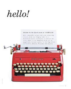 typewriter....