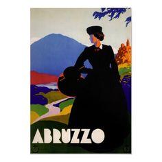 Abruzzo Italia, viagem do vintage por yesterdaysgirl