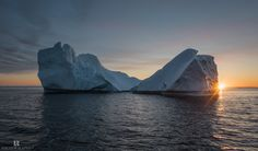 Midnight at the Disko - Not the disco but Disko Bay in Greenland … sailing among giants icebergs in a wonderful summer night.
