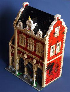 Another approach to the modular housing Lego Modular, Modular Housing, Lego City, Casa Lego, Box Container, Lego Construction, Lego Castle, Lego Moc, Lego Lego