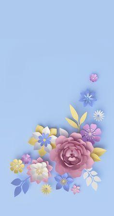 40 Ideas For Wallpaper Backgrounds Pastel Floral Blue Wallpaper Iphone, Trendy Wallpaper, Pretty Wallpapers, Colorful Wallpaper, Cellphone Wallpaper, Flower Wallpaper, Cool Wallpaper, Pastel Flowers, Pastel Floral