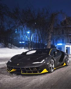 Lamborghini Centenario in fully exposed carbon fiber w/ Giallo accents Photo taken by: @ivanorlov on Instagram