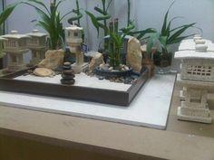 A miniature ZEN Garden arrangement by WallzArt, Manila, Phils. Miniature Zen Garden, Mini Zen Garden, Miniature Gardens, Manila, Zen Room, Small Space Gardening, Air Plants, Diy And Crafts, Zen Gardens