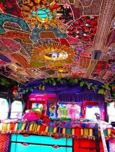 gypsy caravan interior pictures | Bohemian-A vardo (traditional gypsy caravan) interior