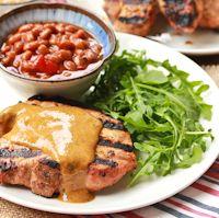 BBQ Chops & Carolina Sauce