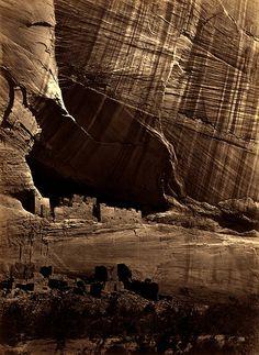 """Timothy O'Sullivan: Anasazi ruins (the """"White House""""), Canyon de Chelly, Arizona, 1873 by trialsanderrors, via Flickr"""