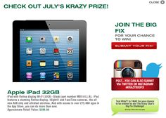 The #KrazyBigFix July Prize! An iPad 32GB!  Enter today before July is over at http://krazybigfix.com/