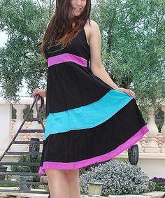 Look at this #zulilyfind! Black Color Block Sleeveless Dress by Aller Simplement #zulilyfinds