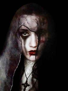 Dark .. goth.. beautiful skin