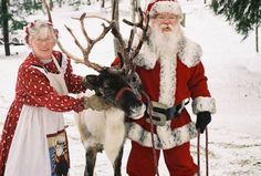 #Santa Claus and Mrs. Claus with Rudolph http://www.fatherchristmasletters.co.uk/letter-from-santa.asp