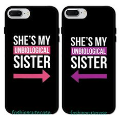She'S my unbiological sister bff cute girls friends rubber phone case cover. Bff Iphone Cases, Bff Cases, Funny Phone Cases, Diy Phone Case, Cute Cases, Girl Phone Cases, Phone Cases Iphone6, Phone Cover, Best Friend Cases