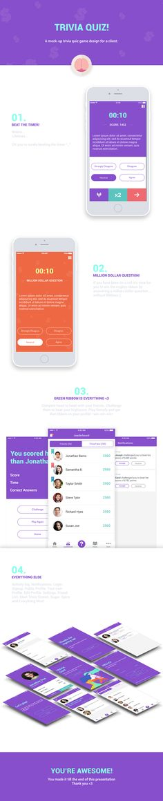 TRIVIA QUIZ GAME on Behance