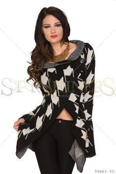 Precious Escape Black Poncho