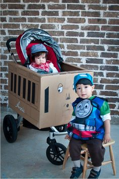 Halloween costume ideas for babies in carseats, strollers, or other things with wheels