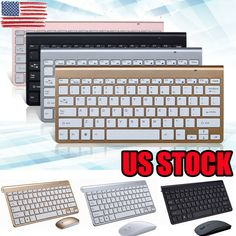 2.4GHz Wireless Portable Keyboard and Mouse PC Set QWERTY V5L3