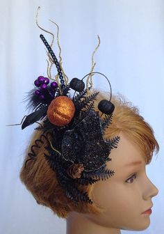 Halloween Harvest Hair Accessory Comb Easy by TheFreakyFascinator