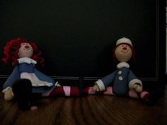Raggedy Ann and Andy Couple Cake Topper