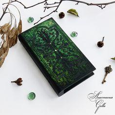 """Купить Шкатулка купюрница """"Эльфийский узор"""" - зеленый, шкатулка, шкатулка деревянная, шкатулка ручной работы"""