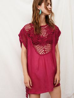 Endless Summer Fuschia Alissa Tunic at Free People Clothing Boutique