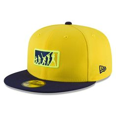 f5e65d64ca8 Milwaukee Brewers New Era 2018 Players  Weekend Team Umpire Fitted Hat –  Yellow Blue