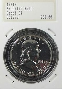 1961 P Franklin US Silver Half Dollar Proof Nice Original Collectors LQQK | eBay