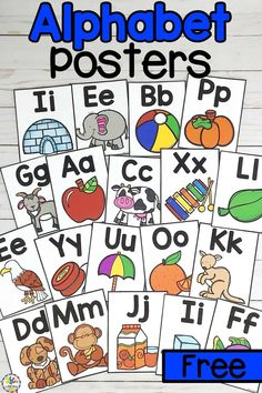 Use Alphabet Posters as your kids gain letter knowledge. Learning the letters will help them develop pre-readings skill that they need before they can read. Spelling Activities, Alphabet Activities, Preschool Activities, Educational Activities, Teaching The Alphabet, Alphabet For Kids, Alphabet Board, Abc Poster, Alphabet Posters