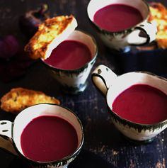 Chilled Beetroot Soup with Garlic and Thyme Toasts recipe.