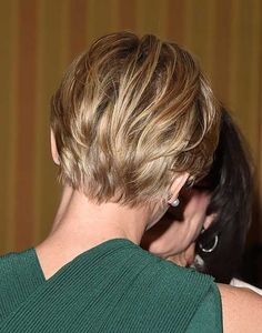 Blonde Short Pixie Back View