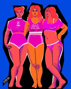 """Magdalena Ròżańska on Instagram: """"🧡💖💙Strong inside but you don't know it Good little girls They never show it When you open up your mouth to speak could you be a little weak…"""" Woman Illustration, Your Mouth, Shoulder Cut, Open Up, Pop Culture, Little Girls, Strong, Illustrations, Instagram Posts"""