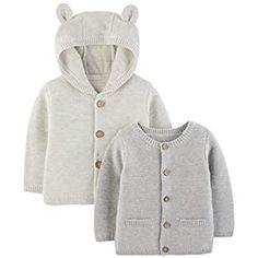 K-youth® Abrigos Bebe Niña Prendas de Punto Cárdigan Invierno Suéter Chaqueta de la Rebeca (1-2 años, Beige): Amazon.es: Ropa y accesorios