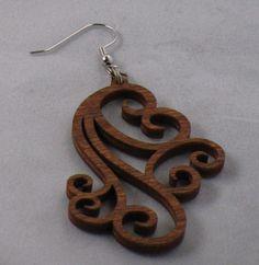 Wood Earrings - Brown 10. $8.00, via Etsy.