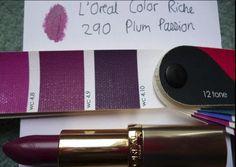 L'oreal Color Riche lipstick in Plum Passion 290 for true winter