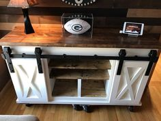 Barn Door TV Stand by KnoxRestoration on Etsy